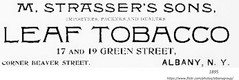 1895  M. Strasser's  leaf tobacco  17 & 19  Green st (albany group archive) Tags: 1890s old albany ny vintage photos picture photo photograph history historic historical