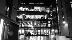 Wet Evening 01 (byronv2) Tags: edinburgh edinburghbynight edimbourg scotland night nuit nacht wet rain raining weather winter tollcross fountainbridge blackandwhite blackwhite bw monochrome architecture building