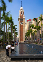 Tsim sha tsui clock tower and fountain, Kowloon, Hong Kong, China (Eric Lafforgue) Tags: architecture asia britishculture buildingexterior builtstructure china chinaeastasia city clock clocktower colourimage englishculture famousplace fountain groupofpeople harbour history hongkong hongkong25 internationallandmark kowloon old outdoors palmtrees photography sky time tower travel traveldestinations tsimshatsui tst vertical water