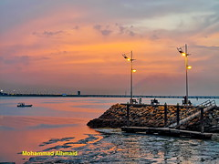 Shwaikh Beach (dawey [Mohammad Alhmaid]) Tags: daweyq8 2019 beach beam blue cloud clouds dawey huawei huaweimate20pro jetty kuwaitcity landscape lyal29 mobile mohammadalhmaid orange outdoor photography reflection rocks sands seascape ship sky sun sunset travel trip water شاطئالشويخ هواوي