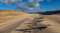 Dune path and blown up sand (HFF) (BraCom (Bram)) Tags: 169 bracom bramvanbroekhoven goereeoverflakkee hff holland nederland netherlands ouddorp southholland strandwesthoofd zuidholland asfalt bicyclestand cloud clouds duinen dunes fietsenrek hek helmgras lucht marramgrass pad palen path poles sand sky storm tarmac widescreen wind wolk wolken zand nl