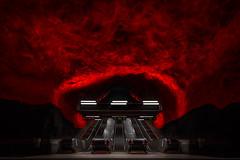 Hell Gate - Höllentor (ralfkai41) Tags: solnacentrum trainstation architektur bahnhof ubahn art sweden schweden kunst tunnelbana architecture stockholm underground subway subwaystation rolltreppen
