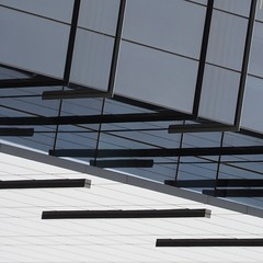 Confusing Geometry (2n2907) Tags: abstract reflection glass office building windows skyscraper architecture graphic geometric geometry minimal olympus omd mirrorless