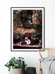 Les Deux Chats by Menega Sabidussi (Menega Sabidussi) Tags: cats cat katzen chat chats art painting artprint framed print france