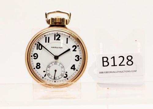 Hamilton Size 16 10k Gold Filled Pocket Watch ($560.00)