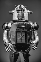 Ape Guardian (Thomas Hawk) Tags: america apeguardian bayarea california claytonbailey eastbay museum omca oakland oaklandmuseum oaklandmuseumofcalifornia sfbayarea usa unitedstates unitedstatesofamerica westcoast bw norcal robot sculpture us fav10 fav25