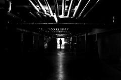 Underground (CoolMcFlash) Tags: street streetphotography person light dark silhouette garage canon eos 60d bnw bw blackandwhite blackwhite monochrome candid framed strase citylife licht dunkel kontur kontrast contrast sw schwarzweis fotografie photography tamron a007 2470 röhre