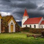 Glaumbaer - turf houses and church thumbnail