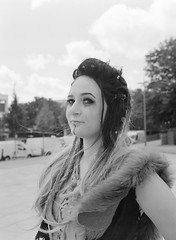 Yasha in Black and White (NekoJoe) Tags: amecon amecon2018 120mediumformat 400iso 6x45 ame ame2018 animeconvention bergger berggerpancro400 blackandwhite bronica bronicarf645 convention cosplay cosplayer coventry criticalrole england film gb gbr geo:lat=5237893951 geo:lon=156164670 geotagged mediumformat midlands pancro uk unitedkingdom warwickartscentre yasha