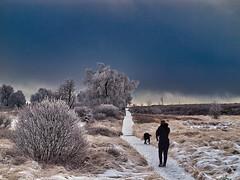 Hohes Venn / Eifel - Winter walking (PHOTOGRAPHY Toporowski) Tags: clouds frau weihnachten winter eis kalt blau cold existinglight white christmas xmas blue wolken eschweiler nrwnordrheinwestfalen deutschland deu