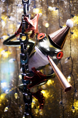 Happy 2019! (Anthony Mark Images) Tags: 2019 frog partyhat noisemaker chain partyfrog leatherfrog coachpursesdisplay chicago iiiinois usa cute funny windowdisplay lights happynewyear newyearseve