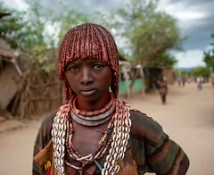 Hamar Woman (Rod Waddington) Tags: africa african afrique afrika äthiopien ethiopia ethiopian ethnic etiopia ethnicity ethiopie etiopian omovalley outdoor omo omoriver outdoors streetphotography street woman culture cultural hamer hamar tribe traditional tribal regalia