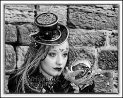IMG_0314 Re-Edit (Scotchjohnnie) Tags: whitbygothweekendnovember2016 whitbygothweekend whitby wgw wgw2016 yorkshire northyorkshire goth gothic costume female people portrait photoshop streetphotography blackwhite mono monochrome canon canoneos canon7dmkii canonef24105mmf4lisusm scotchjohnnie steampunk