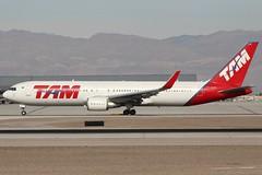 TAM (So Cal Metro) Tags: tam boeing 767 763 767300 767300er ptmsw las lasvegas mccarranairport mccarran vegas airliner airline aircraft aviation airport jet
