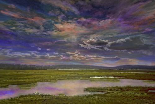 Evening Refuge Colorful Sky
