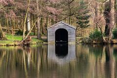 Boathouse reflection (20190213) (Graham Dash) Tags: painshill boathouses reflections