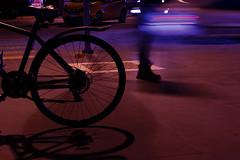 A hectic night (Neslihan.Turan) Tags: bike bicycle purple night light
