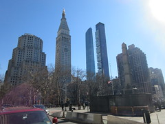 2019 Pencil Towers of Madison Square Park NYC 1524 (Brechtbug) Tags: pencil towers madison square park 2019 nyc 02162019 new york city center right the 1909 built metropolitan life clock tower building metlife 2017 2010 one obelisk monument worth honoring general william jenkins 1794 – 1849 dating from 1857 1950 north