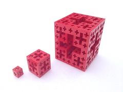 LEGO Menger Crosses (marathontomay) Tags: lego fractal mengercross jerusalemcube math selfsimilar iteration