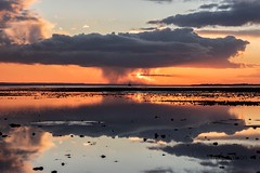 Nuclear (Mike Batson) Tags: coastalliving coastalview coastal coast view scenery scenic landscapeview landscapephotography landscapephoto landscape seascape sunsetphoto reflections sunsets clouds nuclear sunset copyrightmikebatson