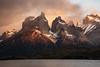 Cuernos del Paine (KaiAn Hsieh) Tags: cuernosdelpaine loscuernos torresdelpaine chileanpatagonia patagonia chile d750 goldenhour magichour dawn daybreak firstlight sunrise nature lake mountain sky cloud