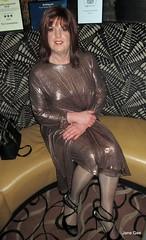 Quality inspected, worth 3 stars? (janegeetgirl2) Tags: transvestite crossdresser crossdressing tgirl tv ts trans jane gee leeds first friday lff bronze dress high heels