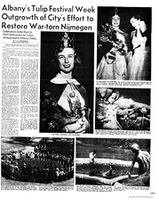 1951 history of the tulip festival and tulip queen (albany group archive) Tags: 1950s nijmegen old albany ny vintage photos picture photo photograph history historic historical