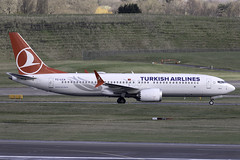 Turkish Airlines 737 MAX 8 TC-LCA at Birmingham Airport BHX/EGBB (dan89876) Tags: turkish airlines boeing 737 max 8 b38m tclca birmingham international airport bhx egbb canon eos 7d mark ii ef100400mm f4556l is usm