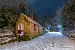 The winter cottage ... (Mike Ridley.) Tags: prebends prebendscottage durhamcity snow winter nightphotography nature sonya7r2 frozen mikeridley cottage