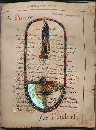 'A Parrot for Flaubert' neckpiece, England, London, 2012, designed and made by Kevin Coates