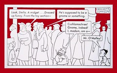 Two Adults See Mr O Malley Near Barnaby 9169 (Brechtbug) Tags: barnaby newspaper comic strip with mr o malley kids fictional semi imaginary friends playmates fairy godfather uncle type grifter con artist one few times an adult notices he is disguise false beard strips news paper color vaudville daily comics funny humor satire character characters syndicate fantasy animation the new york herald tribune papers 1940s 1920s crockett johnson little person