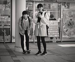 Waiting in front of the ice cream shop (Bill Morgan) Tags: fujifilm fuji xpro2 35mm f2 bw jpeg acros alienskin exposurex4