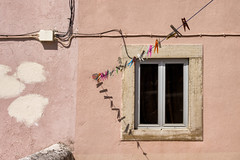 'Something about Nothing' (Canadapt) Tags: wall window clothesline pegs wire shadow sintra portugal canadapt