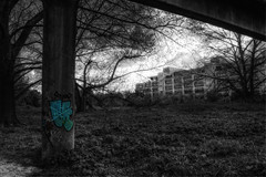 Longman's Building [Explore] (nigdawphotography) Tags: longmans building architecture graffiti harlow essex