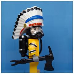 Lego D0LK Chief (Eddy Plu) Tags: lego minifigure dolk chief street art urban urbanart streetart contemporary contemporaryart gallery minifig afol tfol moc legoart eddyplu eddy plu custom d0lk