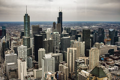 (jfre81) Tags: chicago illinois il downtown loop birds eye view aerial 875 north michigan john hancock skyline building architecture skyscraper cityscape horizon james fremont photography jfre81 canon rebel xs eos