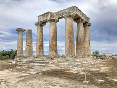 Temple View from SW, 2018 (Mr. History) Tags: templeofapollo temple corinth greece greek ruins ancient doric