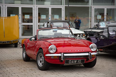Triumph Spitfire (<p&p>photo) Tags: red 1968 1960s 60s sixties triumphspitfire triumph spitfire oaw1g 5th erskine classic car show erskineclassiccarshow 5therskineclassiccarshow classicshow classicvehicleshow charity vehicle intubraehead arena intubraeheadarena intu braehead renfrewshire scotland uk july2017 july 2017 classiccar classiccarshow auto autos autoshow carshow worldcars