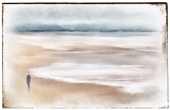 soothe the soul . . . (YvonneRaulston) Tags: dreamy emotive delicate soft colour impressionist figure sand beach creative