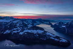 Winter sunset in central Switzerland (moritzgyssler) Tags: lakelucerne schnee beckenried landscape winter vierwaldstättersee fronalpstock seelisberg gersauerbecken lake zentralschweiz stoss snow