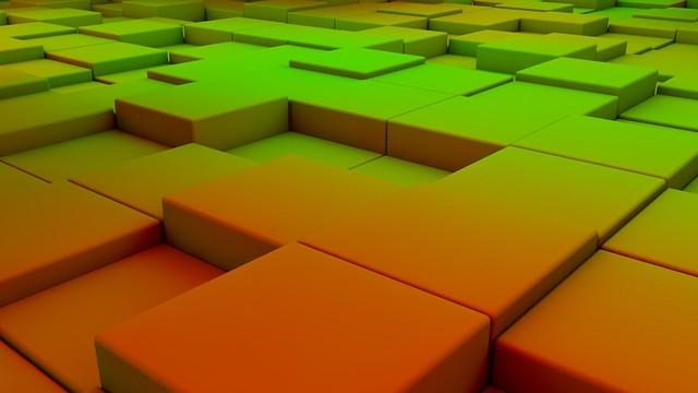 Обои кубы, пространство, фон, свет картинки на рабочий стол, фото скачать бесплатно