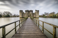 A stormy Bodiam Castle! (Nathan J Hammonds) Tags: bodiam castle east sussex uk long exposure water building history moody dark windy stormy nikon irex nisi perspective 10stop nd filter lightroom