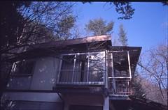 (✞bens▲n) Tags: pentax lx kodak elitechrome100 takumar 28mm f35 screwmount film analogue slide light building house abandoned haikyo window