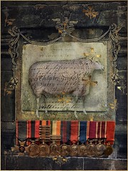 The Royals (jimlaskowicz) Tags: jimlaskowicz impressionistic vintage victorian awards medals sheep bloodline painterly art royal surreal whimsical creature