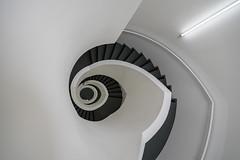 the hand (Karl-Heinz Bitter) Tags: staircase monochrom monochrome white light handrail steps hand wetzlar spirale spiral fineart karlheinzbitter germany architektur architecture