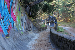 Olympic Bobsleigh and Luge Track - Sarajevo, Bosnia and Herzegovina (russ david) Tags: sarajevos 1984 olympics sarajevo 2018 bosnia herzegovina olympic bobsleigh luge track abandoned bobsled graffiti travel balkans bosna hercegovina боснa и херцеговина