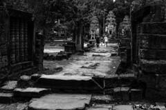 180728-002 Preah Ko (2018 Trip) (clamato39) Tags: preahko roluosgroup angkor cambodge cambodia asia asie temple religieux religion old ancient ancestrale patrimoine voyage trip landmark noiretblanc blackandwhite bw monochrome
