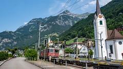 SBB Re 620 087 (Re 6'6 11687) & Re 4'4 2 11343 Fluelen 16 July 2015 (2) (BaggieWeave) Tags: switzerland swisstrains swissrailways sbb cff ffs fluelen re44 re66 gotthardrailway gotthard gotthardbahn
