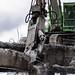 Crushing a viaduct girder