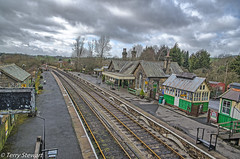 Embsay railway station (rtstewart000) Tags: railway embsey yorkshire line old restored steam reopened carriage signal train travel historic boltonabbey terrystewart nikon d7000 sky cloud colour hdr vividstriking